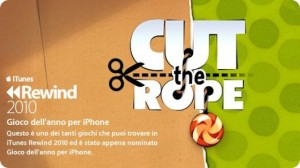 Cut the rope - Gioco dell anno 2010