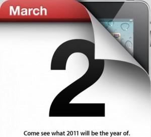 Invito alla presentazione di iPad 2