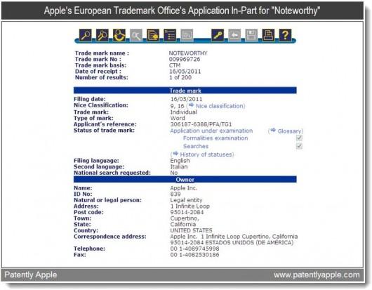 Brevetto Apple NoteWorthy