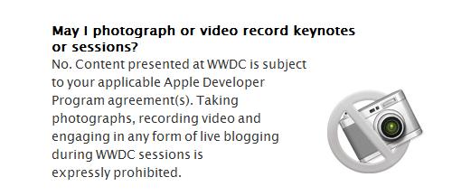 FAQ del sito Apple per il WWDC
